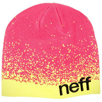 Neff Spray Beanie Hats, Pink/Yellow, One Size
