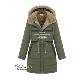 Winter Vintage Women Faux Rex Rabbit  Fur Jacket Thick parkas Snow Coat Drawstring fur coat outerwear plus size QY13011011