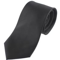 Tok Tok Designs Men's Necktie (N34, Black, 100% Silk)
