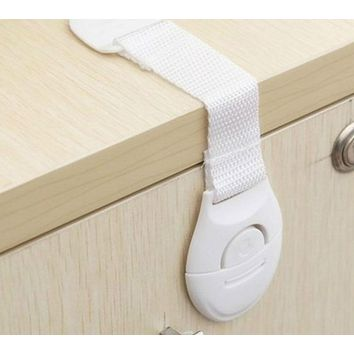 Cabinet Door Drawers Refrigerator Toilet Lengthened Bendy Safety Plastic Locks for Child Kid Baby Safety