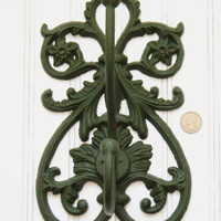 Double Wall Hook, Choose your Color, Large Wall Hook, Coat Hook, Large Coat Hook, Cast Iron Hooks, Entryway Hooks, Elegant Wall Hook