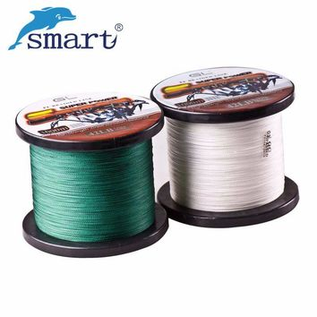Smart 1000m PE Braided Fishing Wire Super Strong 12LB-80LB 4 Stands Superpower Tresse Peche Multifilament Fishing lines Tackle