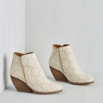 Boho Precious Release Bootie in Ivory