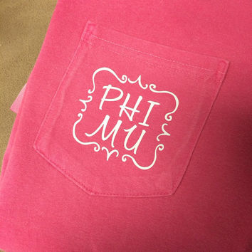 Phi Mu Shirt offered on a variety of shirt styles! READ ENTIRE LISTING
