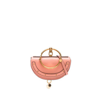 Chloe Small Nile Leather Minaudiere in Ideal Blush | FWRD