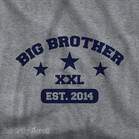 Big Brother T-Shirt - Collegiate Style TShirt Big Brother XXL Shirts Custom Boy's Children Youth