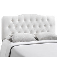 Annabel Full Vinyl Headboard in White