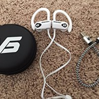 Wireless Bluetooth Earphones - VEOSPORT V1 Black Wireless Earphones with HD Quality Sound, 8 hour battery Life, IPX7 Sweat-Proof, Custom Sound App, 8 Ear Tip Options, and a Built in Microphone