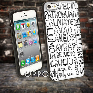 Harry Potter Magic Spells Minimal Design cover case for iPhone 4 4S 5 5C 5 5S 6 Plus Samsung Galaxy s3 s4 s5 Note 3 by opposih
