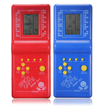 Classic Fun Tetris Hand Held LCD Retro Game Toys Brick