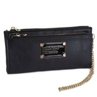 iOffer: Marc By Marc Jacob Slim Zip Clutch Wallets Purse Black for sale