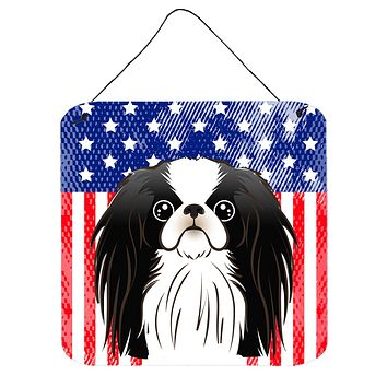 American Flag and Japanese Chin Wall or Door Hanging Prints BB2160DS66