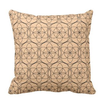 Geometry Funky Circles Throw Pillow / Cushion