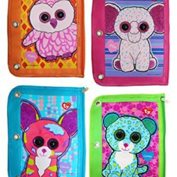 Ty Beanie Boo's 3 Ring Binder Pencil Pouch, 10 x 7.5 Inches, Assorted Design Will Vary, 1 Count, 813-2
