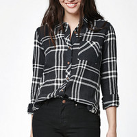 Element Lola Plaid Hi-Low Button-Down Shirt at PacSun.com
