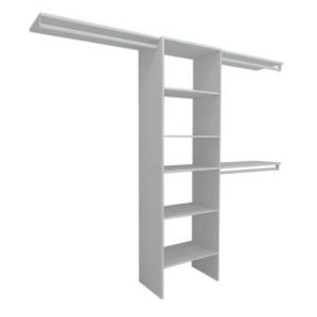 ClosetMaid, Selectives 5 ft. - 10 ft. White Basic Closet System, 17029 at The Home Depot - Mobile
