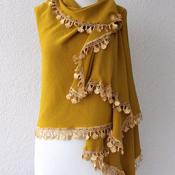 Mustard Pashmina Scarf, Large Scarf, Oversize Scarf, Women Fashion Accessories Gift Ideas For Her
