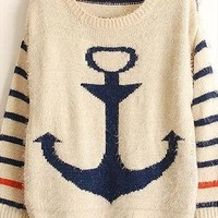 Fresh anchor cute sweater from Fanewant