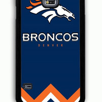 Samsung Galaxy S5 Case - Rubber (TPU) Cover with Denver Broncos Football Club Rubber Case Design