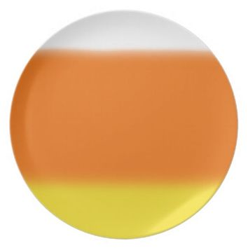 Candy Corn Ombre Melamine Plate