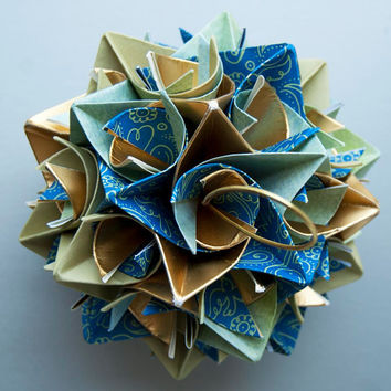 Origami Paper Star Ball Peacock Mix