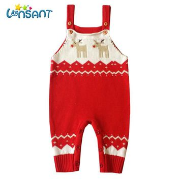 Lonsant Romper Baby Clothes Casual Unisex Baby Romper Christmas Deer Jumper Knitted Sweater Roupa Infantil Menina Dropshipping