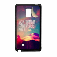 Perks Of A Wall Flower Quote Design Vintage Retro Samsung Galaxy Note Edge Case