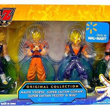 Dragonball Z Exclusive 4 Inch PVC Figure Orignial Collection 4-Pack (Majin Vegeta, Super Saiyan Gohan, Super Saiyan Vegito and Buu)