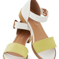 ModCloth Colorblocking Fresh Croissants Sandal in Yellow