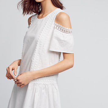 Open-Shoulder Poplin Dress