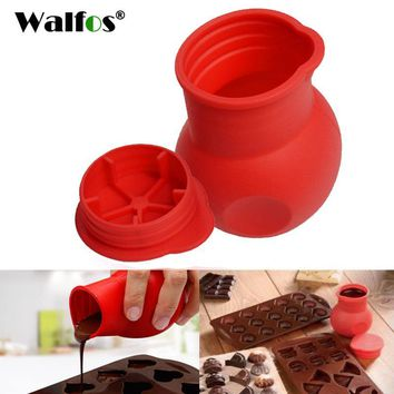WALFOS Practical Silicone Chocolate Melting Pot Butter Heat Milk Pourer Jug Mould Butter Sauce Milk Baking Pouring