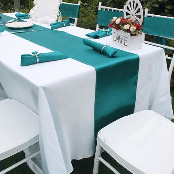 """5pcs/lot Wedding Table Runner 12""""x108"""" Luxury Satin Table Runners for Wedding Party Table Decoration Accessories  Home Textiles"""
