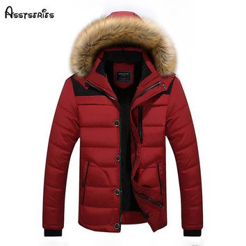 2018 Free Shipping Winter New Youth Quality Warm Duck Down Jacket Thickening Parka Coat Men's Winter Clothes D130