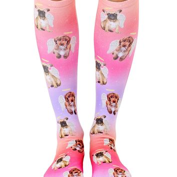 Angel Puppies Knee High Socks