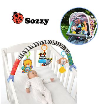 Sozzy Baby Stroller/Bed/Crib Hanging Toys For Tots Cots rattles seat cute plush Stroller Mobile Gift 88CM  Rattles free shipping