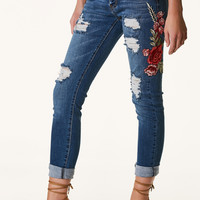 Machine Spring Time Patched Jeans