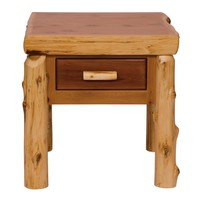Traditional Cedar One Drawer End Table