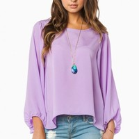 TRACEY BLOUSE IN LILAC