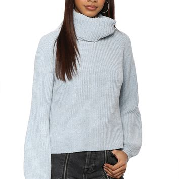 Willow & Clay Chenille Turtle Neck Sweater