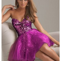 WowDresses — Fantastic A-line Sweetheart Mini Prom Dress with Sequins