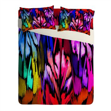 Holly Sharpe Feather Rainbow Sheet Set Lightweight