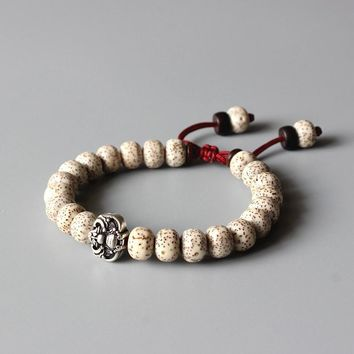 Adjustable Vintage Bodhi Seed Mala Beads