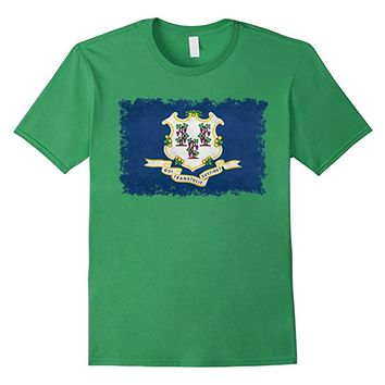 Connecticut State Flag T-Shirt in Vintage Retro Style