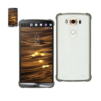 Reiko REIKO LG V10 MIRROR EFFECT CASE WITH AIR CUSHION PROTECTION IN CLEAR BLACK