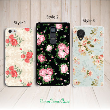 vintage floral rose flower phone case for samsung note 3 4 S5 S4 S3 mini active case - nokia lumia 1520 1320 520 630 635 930 case (K38)