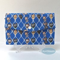 Cairn Terriers Tri-fold Wallet, Fabric Clutch