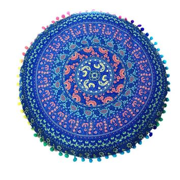 Indian Mandala Floor Pillow Covers