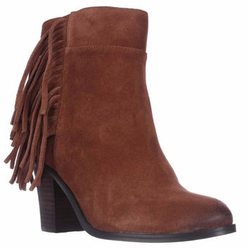 Kenneth Cole Alana Fringe Ankle Boots, Rust, 7 US / 37.5 EU