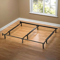 King size 9-Leg Adjustable Metal Bed Frame with Headboard Brackets