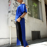 Long Blouse / Asymmetric Tunic Top